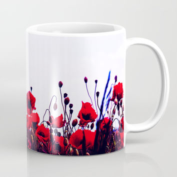 Sea of Poppies #society6 #home #tech Mug by cadinera