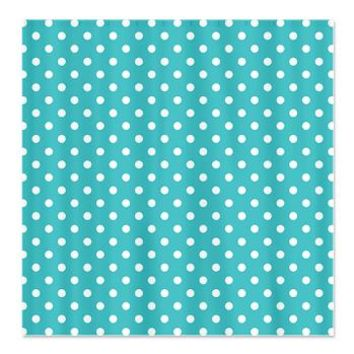 Polka-dot Blue and white Print Shower Curtain> Blue With White Polka-dots> KCavender Designs
