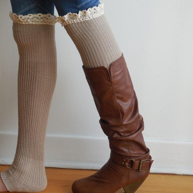 oat lace socks for boots knee high from beautyspells
