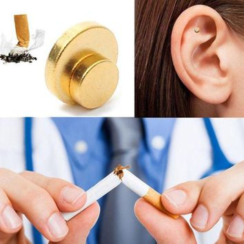 2PCS Health Care Magnet Auricular Quit Smoking Acupressure Patch Not Cigarettes Health Therapy Smoking Anti Smoke Patch Hot Sale