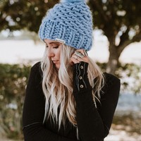 Magic Pom Beanie - Periwinkle