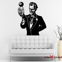 Joker Decal, Batman's Joker Removale Wall Decal