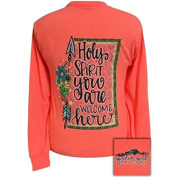 Girlie Girl Originals Preppy Holy Spirit Faith Long Sleeve T-Shirt