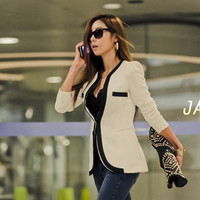 Blazer Jacket Suit Women Suit Fashion Slim Long Sleeve Blazer Jacket