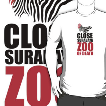 Indonesia Protest 'Close Surabaya Zoo of Death' Animal Rights T-Shirt and Accessories