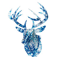 "Miranda Mol ""Winter Mountains"" Bucky Deer Bust Jr."