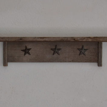 Wall shelf 24 x 3.5 reclaimed wood subtle character