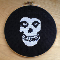 Misfits - Crimson Ghost - Wall Art - CrossStitch
