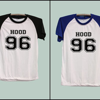 5SOS Calum Hood Shirt 5 seconds of Summer Shirt Short Sleeve Short Baseball Shirt T-Shirt Women T-Shirt Sleeve Raglan Size S M L XL