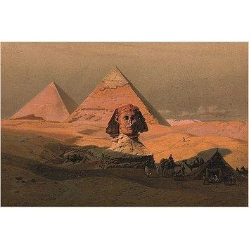 the PYRAMIDS AT GIZA & THE SPHINX vintage photo poster LITHOGRAPH 24X36 new