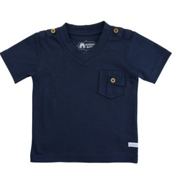 Navy V-Neck Pocket Tee