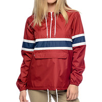 Zine Shiloh Red Pullover Windbreaker