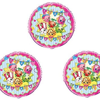 Set of Three...SHOPKINS BIRTHDAY PARTY Balloons Decorations Supplies Cupcake Cookie