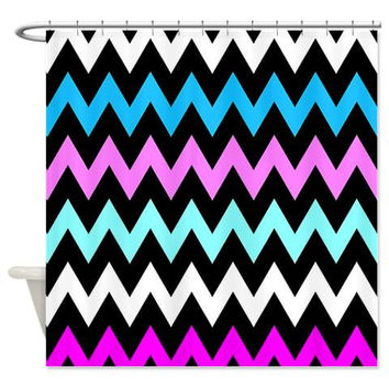 Shower Curtain - Zigzag #12 - Ornaart Design