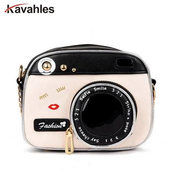 2018 Fashion Camera Shape Shoulder Bag Personality Camera Modeling Bag Women Messenger Chain Bag Cheap Women Handbags PP-864