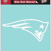 "New England Patriots Die-Cut Decal - 8""x8"" White"