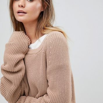 Micha Lounge Open Weave Slouchy Sweater at asos.com