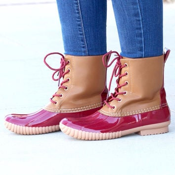 Rosetta Classic Lined Duck Boots {D. Red}