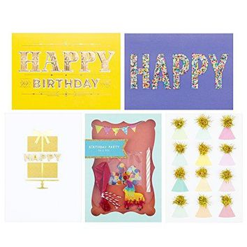 Hallmark Signature 5 Birthday Cards Assortment, Funny Birthday Card - Free Shipping