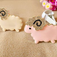 New Design Crystal Sheep Car outlet perfume original auto perfumes Air Freshener Car Air Conditioning Vent Clip