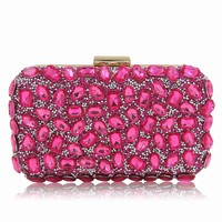 Superw Women Rhinestone Evening Bags for Party Clutch Purse Handbag One-Shoulder Crossbody Dinner Bag