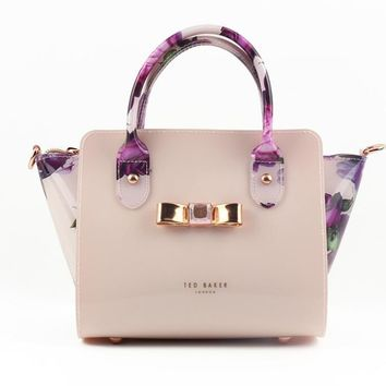 Ted Baker Women Shopping Leather Tote Crossbody Satchel Shoulder Bag-1