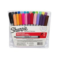 Sharpie® Ultra Permanent Markers, Fine Point, Assorted Colors, 24/pk (75847) | Staples