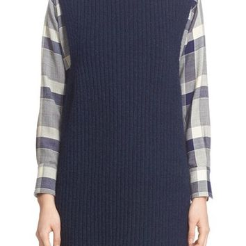 Adam Lippes Rib Knit Stretch Cashmere Tunic | Nordstrom