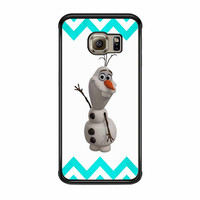 Olaf Disney Frozen Blue Chevron Samsung Galaxy S6 Edge Case