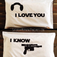 Star Wars Love pillowcases