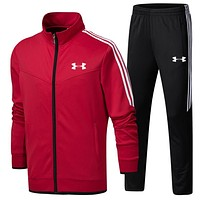 """Under Armour"" pantsuit letter printing fashion suit pullover Red Two piece"