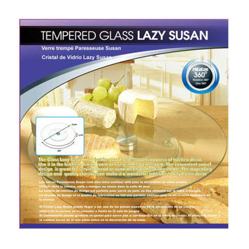 Tempered Glass Lazy Susan ( Case of 2 )