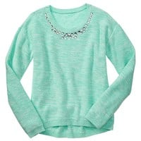 Gap Girls Factory Embellished Drop Shoulder Sweater