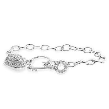 Heart And Key Bracelet