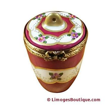 BURGUNDY URN WITH GOLD HANDLE LIMOGES BOX
