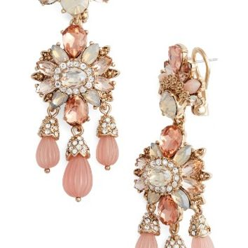 Marchesa Sheer Bliss Drama Chandelier Earrings | Nordstrom