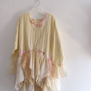 Bohemian Fantasy Dress/ Fairy Funky Tunic/ Gypsy by KheGreen