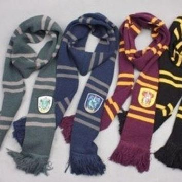 ca PEAPTM4 Harry Potter Gryffindor Slytherin Hufflepuff Ravenclaw House Cosplay Scarf Collections [8919790215]