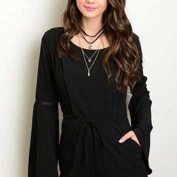 79a9f7611308 Shop Bell Sleeve Romper on Wanelo