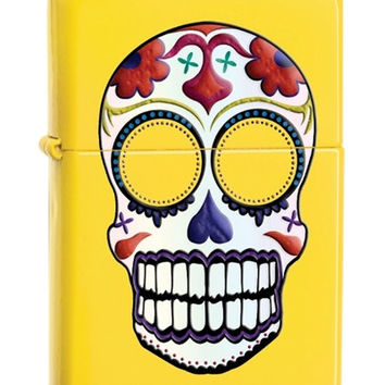 Zippo Day of the Dead Skull Lemon Lighter