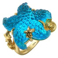Tagliamonte Designer Rings Marina Collection - Blue Starfish 18K Gold Ring