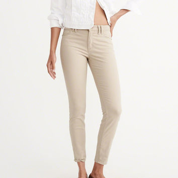 Womens Sateen Ankle Pants | Womens Bottoms | Abercrombie.com