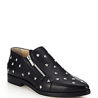 Jimmy Choo - Maida Star-Studded Leather Ankle Boots - Saks Fifth Avenue Mobile