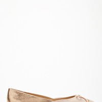High-Shine Paneled Flats