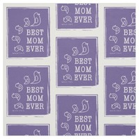 Best Mom Ever - Cute Funny Birds Violet Purple Fabric