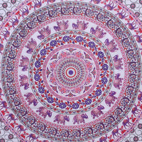 Small Elephant Mandala Wall hanging Tapestry Indian hippie Tapestry Table Cover  Bed Spread, beach Coverlet Hippy Decorated Throw,curtain