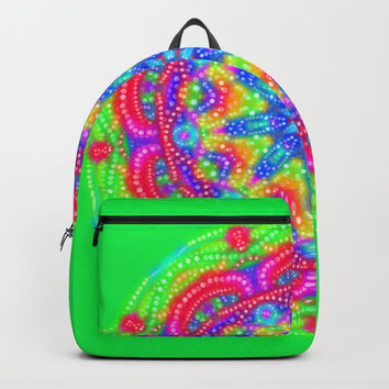 Amazing Day Neon Mandala Backpacks by My Blue Skye