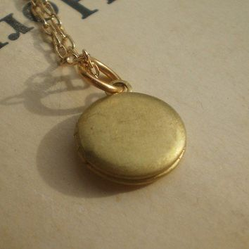 mini locket necklace by littlepancakes on Etsy