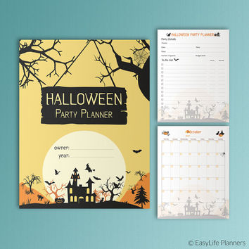 Printable Halloween Party Planner October Calendar Editable Invitation Halloween 2016 Halloween Costumes Guests List Halloween Invitations