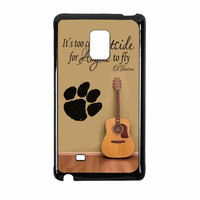 Ed Sheeran Guitar And Song Quotes Samsung Galaxy Note Edge Case